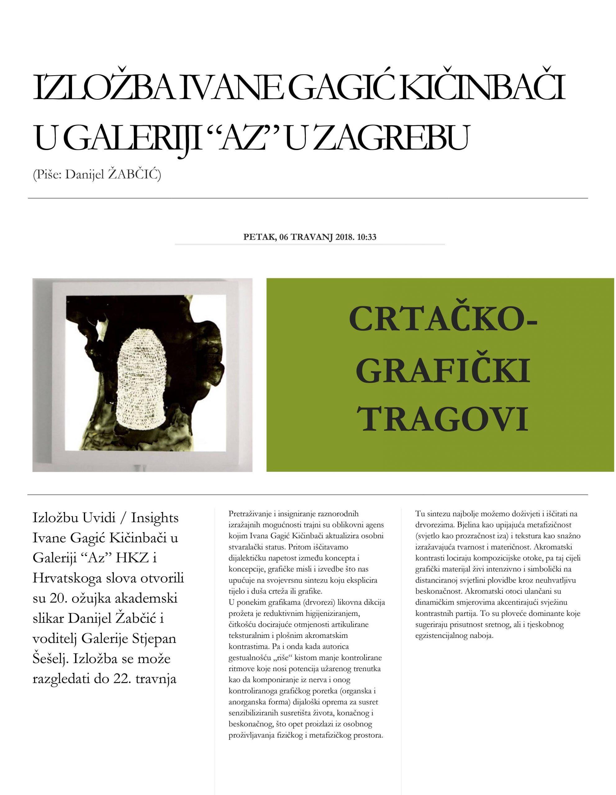 Ivana Gagic Kicinbaci_AZ Galerija_Hrvatsko slovo_web_2018