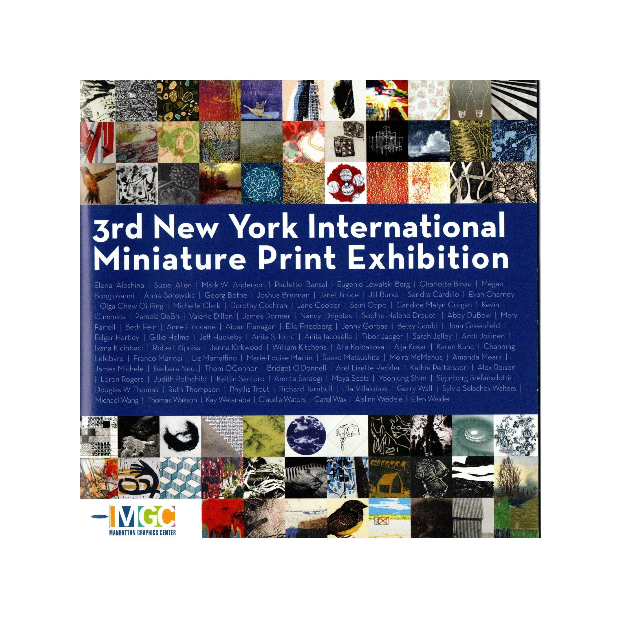 3rd New York International Miniature Print Exhibition, Manhattan Graphics Center, New York, USA